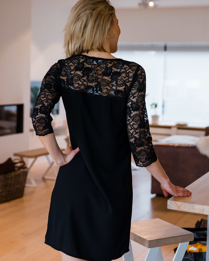 Lace Long Sleeves Dress