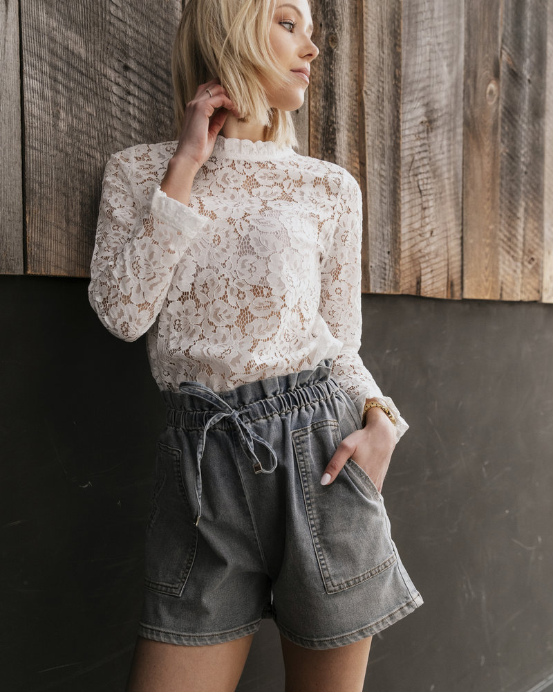 Evening Lace Blouse White