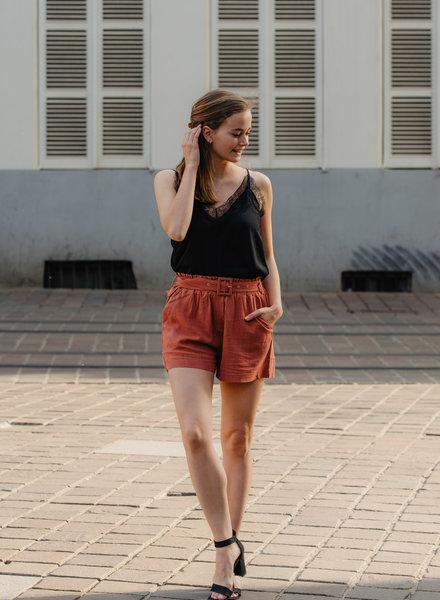 Linen Classy Short Brique