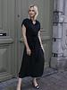Maxi Collar Dress Black