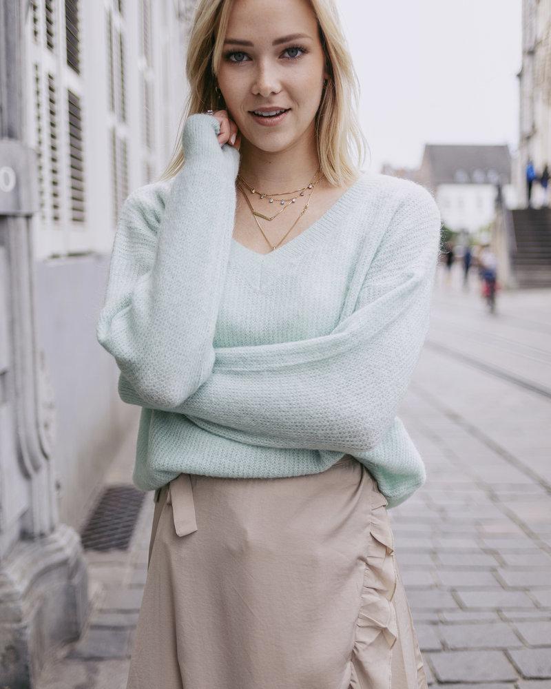 Mint V-Sweater