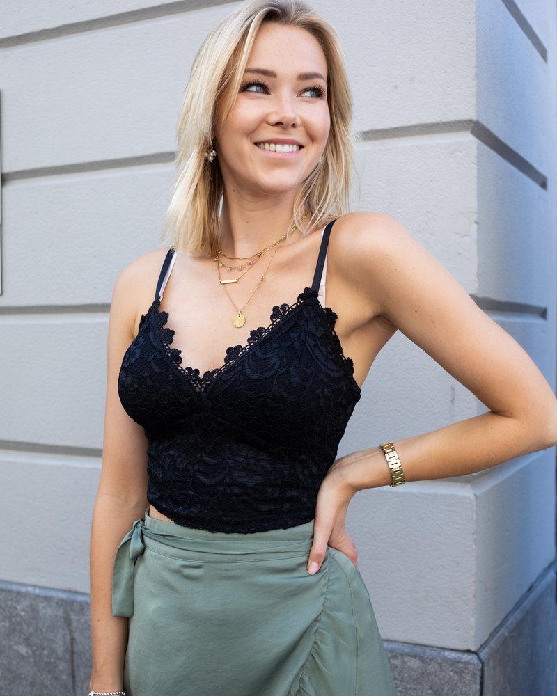 Lace Crop Black