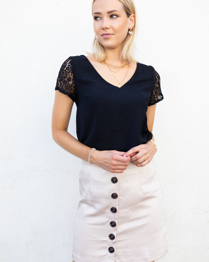 Alice Button Skirt