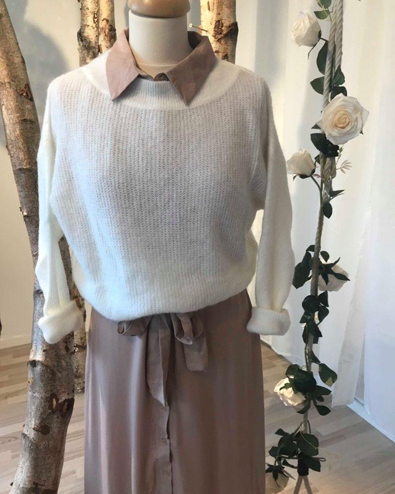 Crop Sweater White