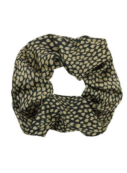 Groen & zwart geprinte scrunchie