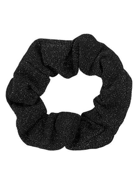Zwarte glitter scrunchie