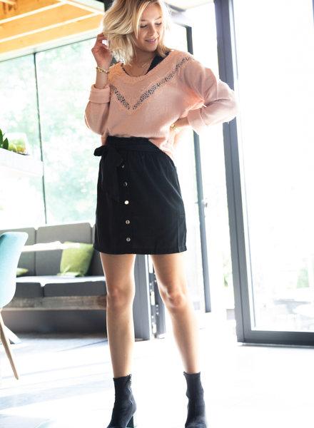 Silver Button Skirt