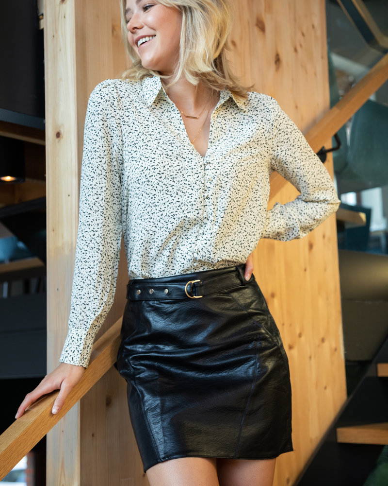 Spotted White Blouse