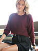 Crop Sweater Bordeaux
