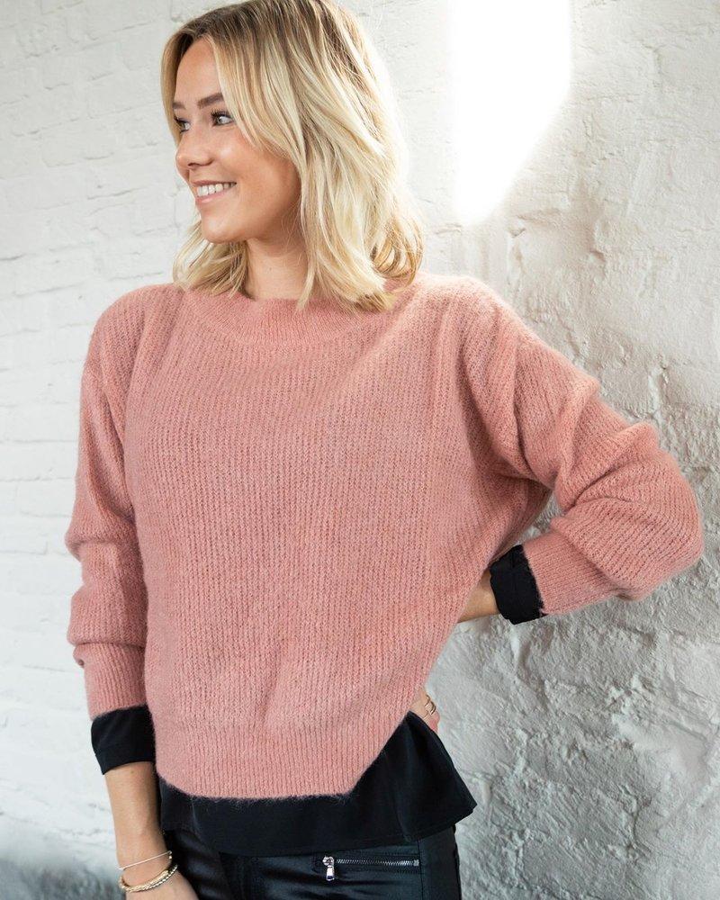 Crop Sweater Salmon
