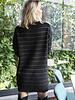 Striped Sparkling Sweaterdress Black