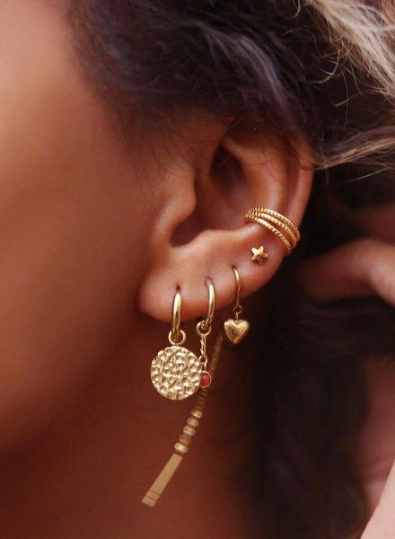 Ear Cuff drie ringetjes Zilver