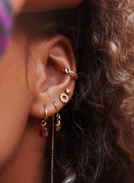 Ear Cuff gevlochten Zilver