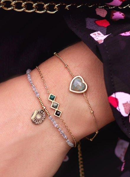 Armband bedel & labradorite
