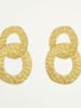 Oorbellen goud dubbele ring