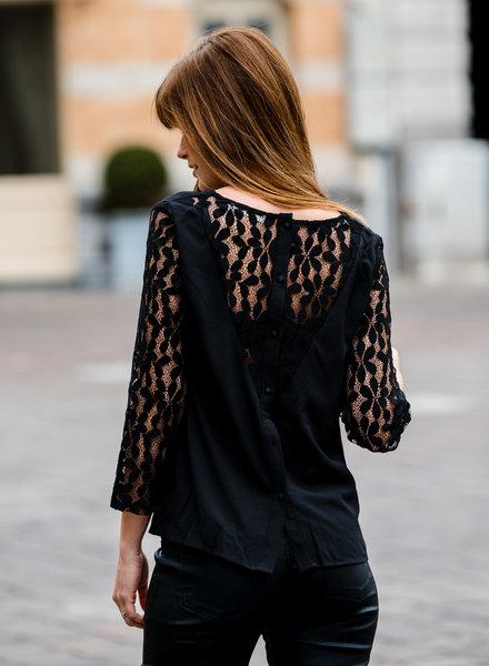 Lace Black Blouse