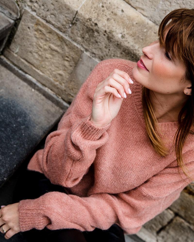 Perfect Basic Sweater Roze