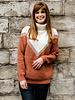 Sparkle V-Sweater Brique