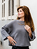 Wide Sleeve & Cropped Jumper Grey