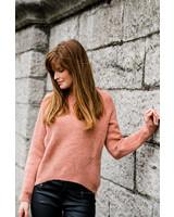 Crop Sweater Roze