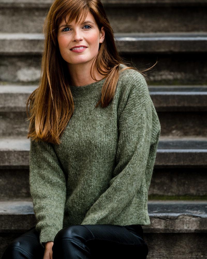 Crop Sweater Kaki