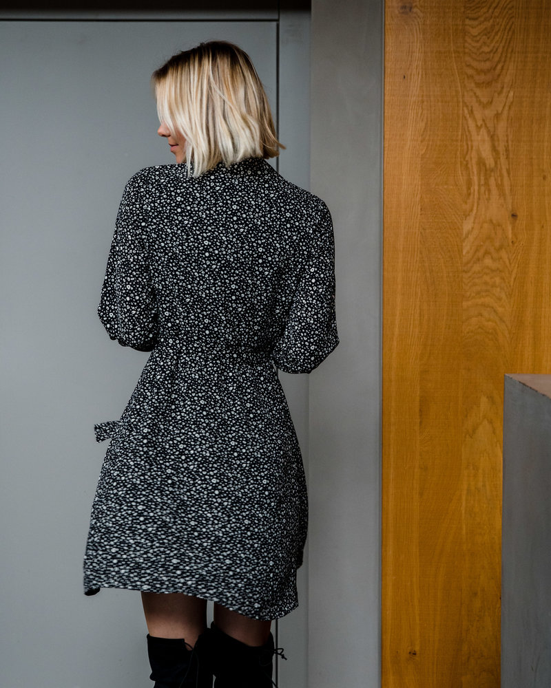 Spotted Black Dress