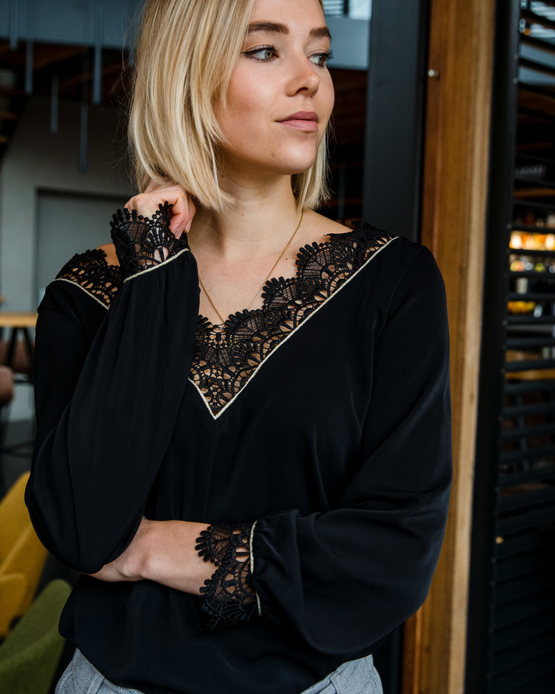 Evening Lace Blouse Black