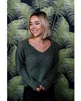 Kaki V-Sweater