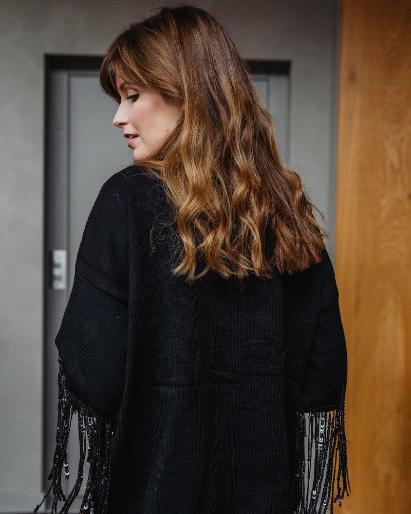 Sequin sweater Black