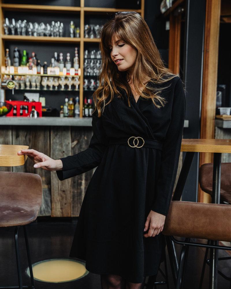 Belted Black Dress