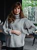 Grey Loose Collar Sweater