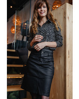 Spotted Blouse Black