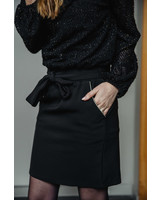 Black Skirt Golden Details