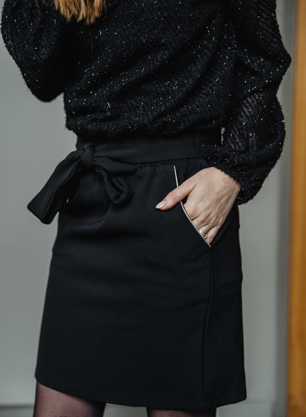 Black Skirt Golden Details
