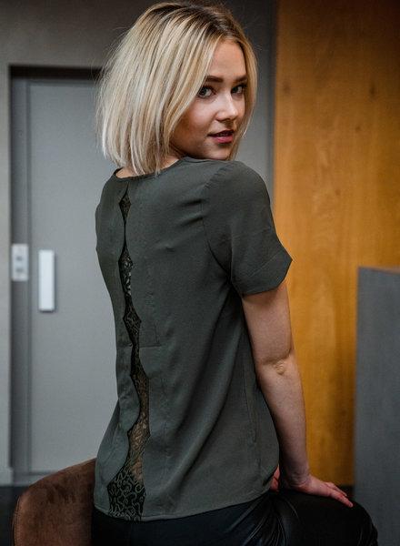Lace Back Detail Kaki