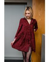 Leopard Dress Red
