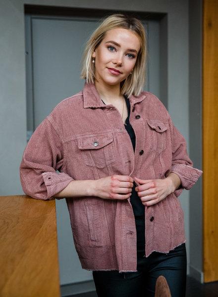 Velours Jacket Roze