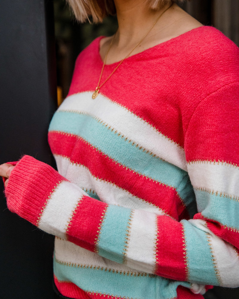Sparkle & Stripes Koraal