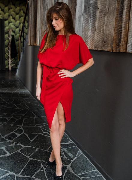 Classy Chic Midi Dress Red
