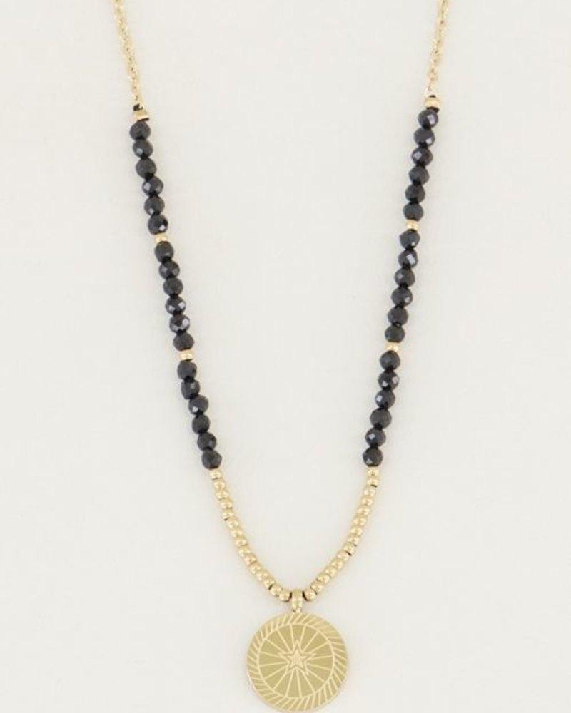 Ketting bedel & black onyx