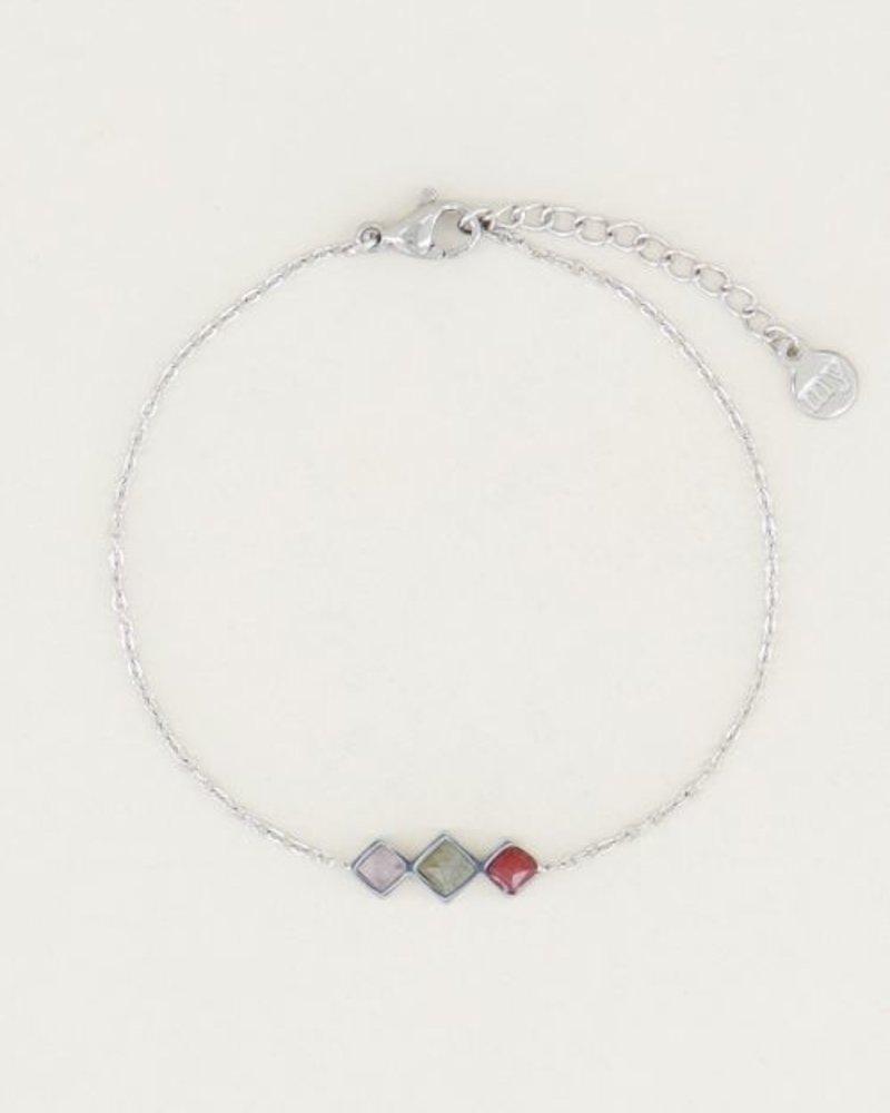 Armband Lichte Edelsteentjes Zilver