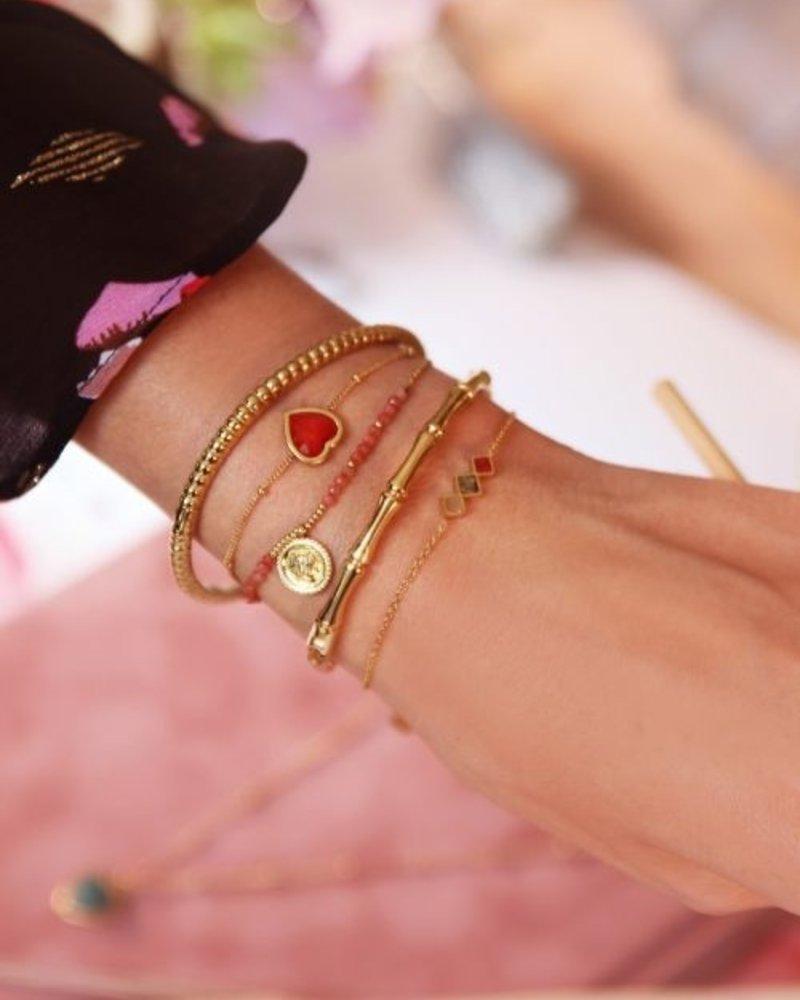 Armband Lichte Edelsteentjes Goud
