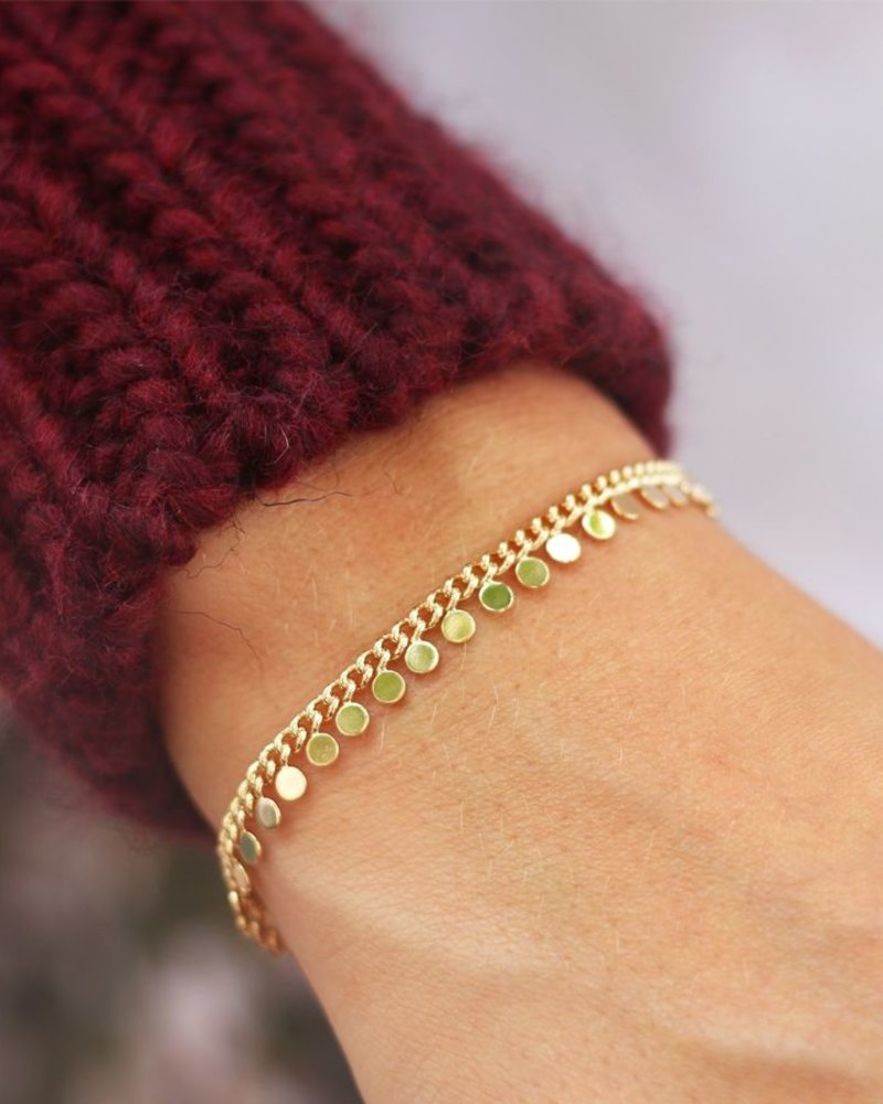 Coin Bracelet Goud