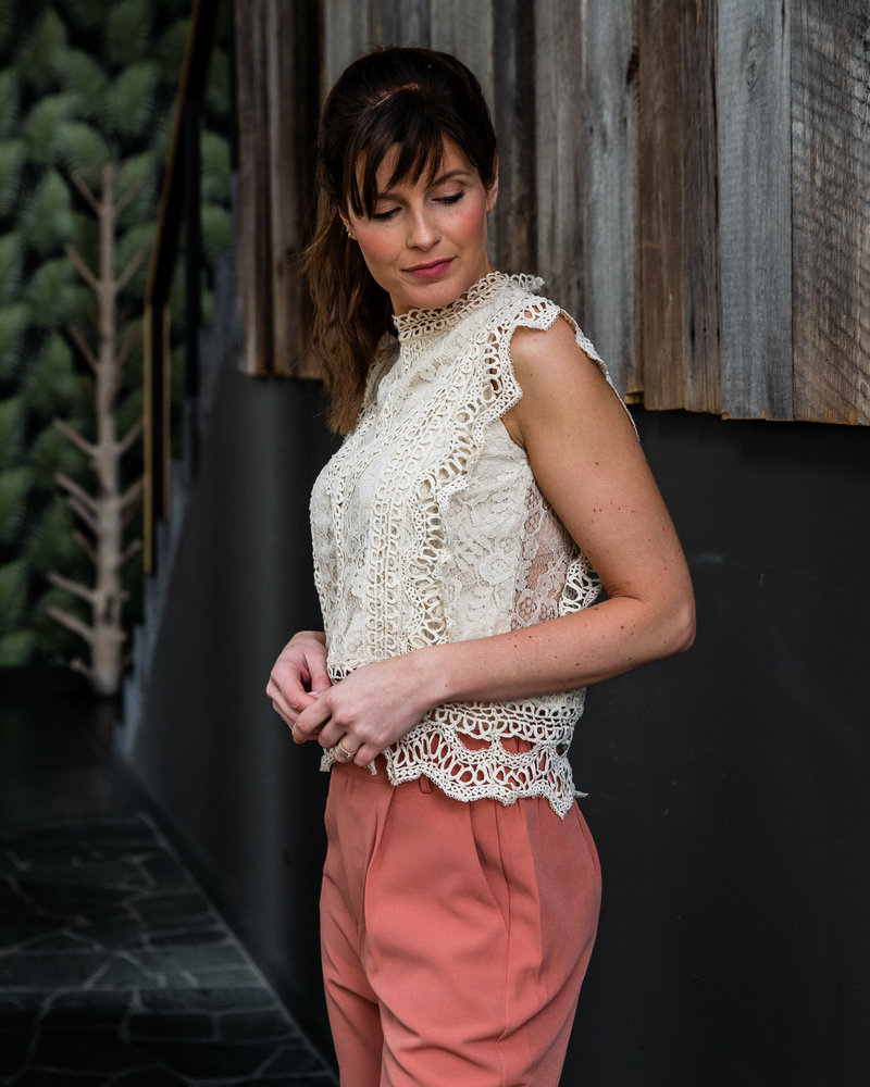 Crochet Top Beige