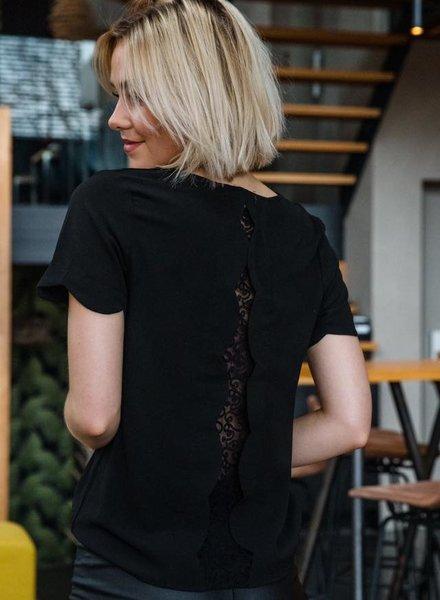 Lace Back Detail Black
