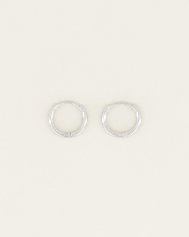 Basic Oorringen Zilver