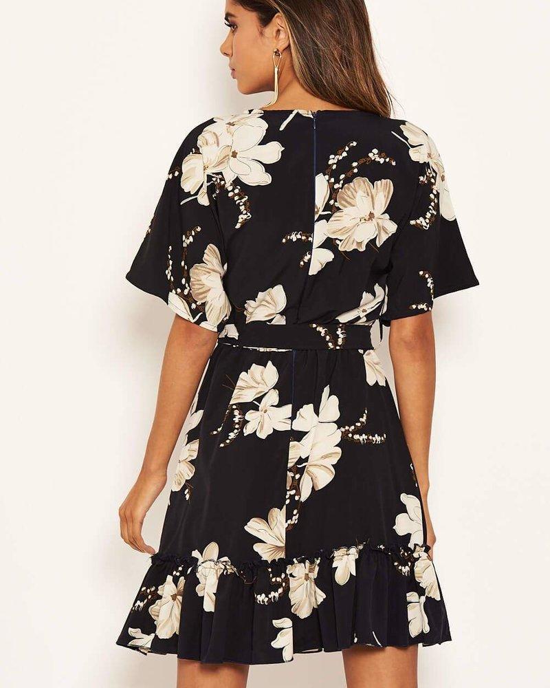 Flower Frill Dress