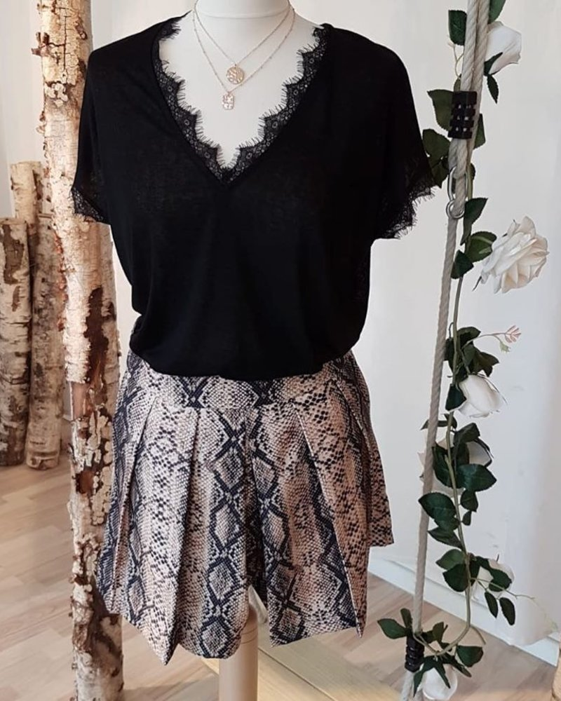 Perfect Lace T-shirt Black