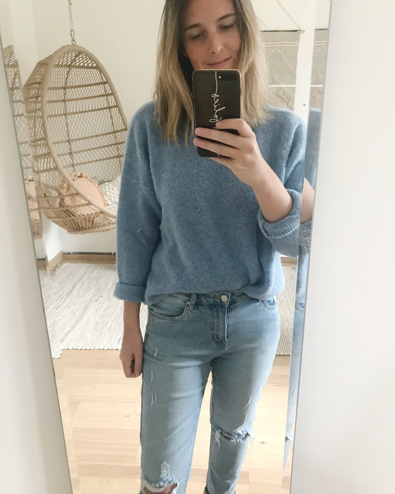 Loose Sweater Blue