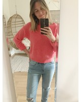 Crop Sweater Coral